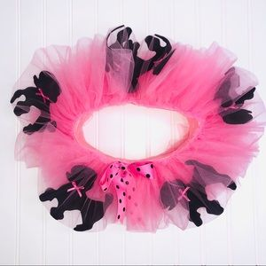 PUPPET WORKSHOP PINK TUTU WITH BLACK POODLES 🐩